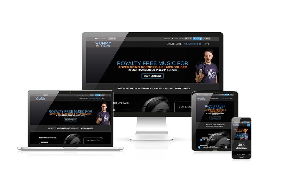 Yummy Sounds – ( Webdesign – Entwicklung – Marketing )